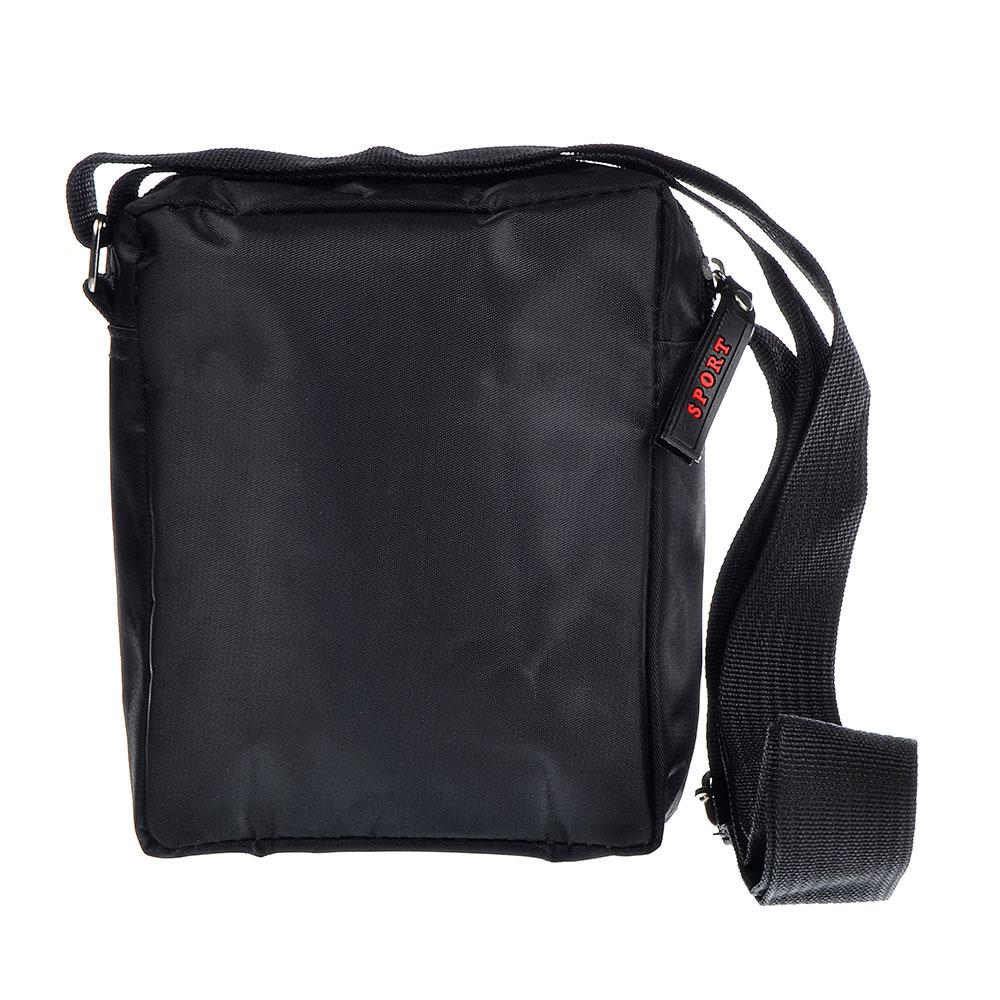 PAVO Сумка мужская на длинном ремне, 13х16х5см, полиэстер, черный, #1654