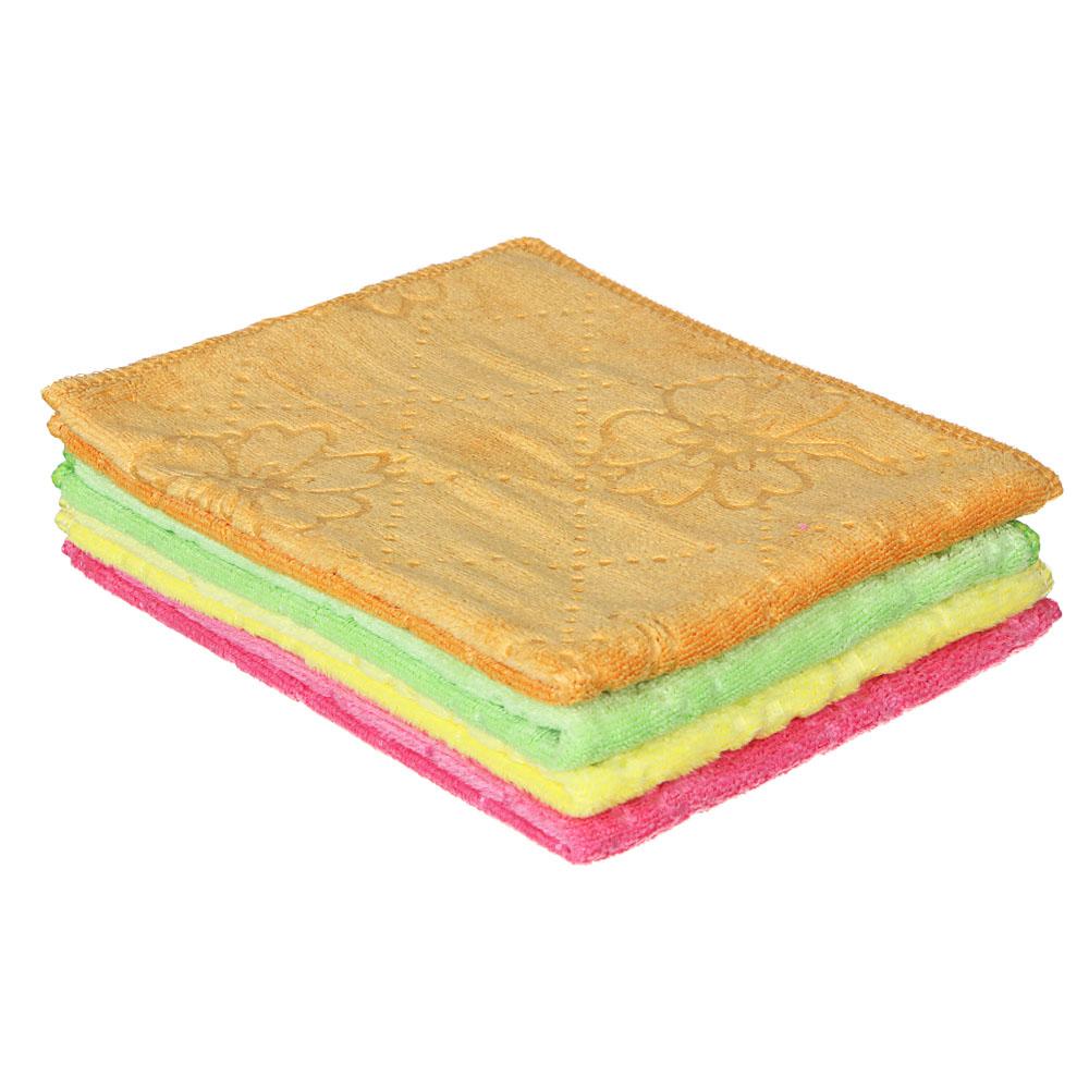 Салфетка универсальная из микрофибры, махровая, 30х40 см, 300 гр./кв.м, 4 цвета, VETTA
