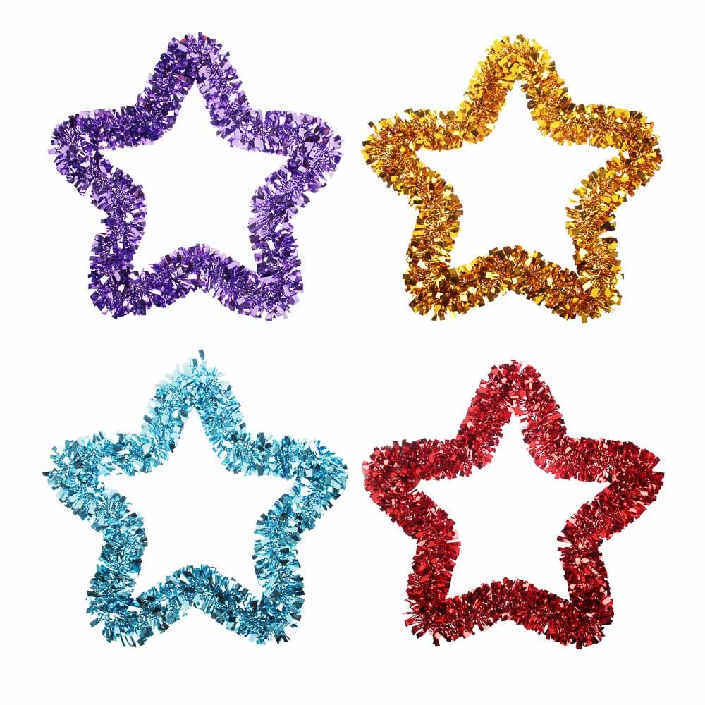 Елочная игрушка Звезда СНОУ БУМ 33х33 см, ПВХ, металл, 4 цвета