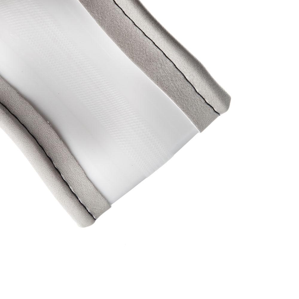 """NEW GALAXY Оплетка руля, экокожа, со вставками """"нубук"""", серый, разм. (М)"""