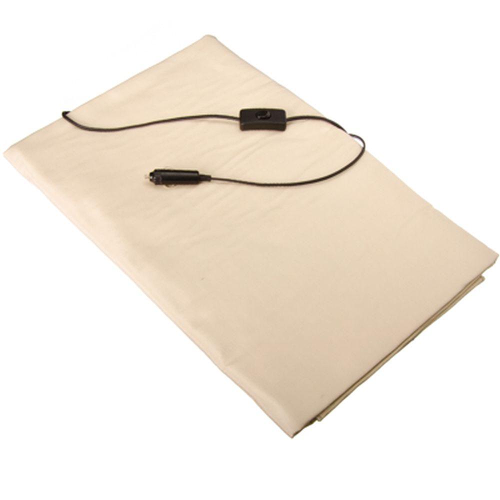 NEW GALAXY Одеяло флис с подогревом 100х160см, штекер в прикуриватель, выключатель