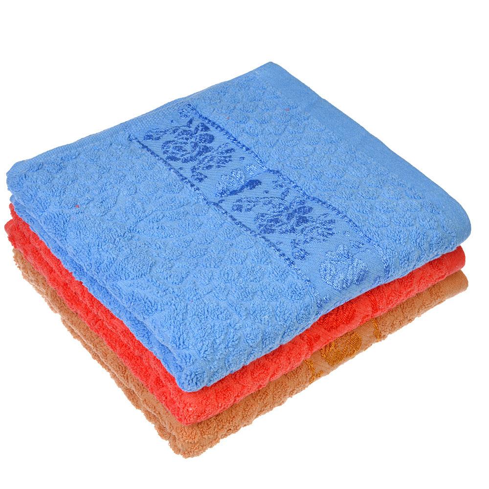 Полотенце для лица махровое, хлопок, 50х100см, 3 цвета, VETTA