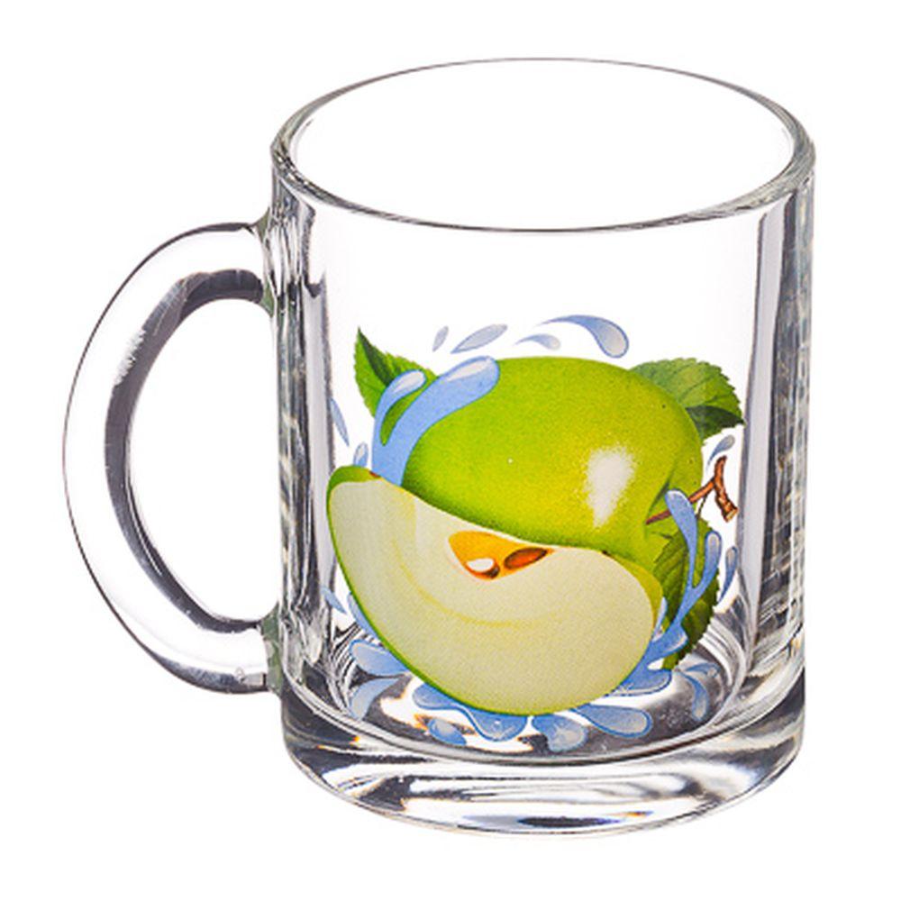 """ОСЗ Кружка стеклянная, 300мл, """"Зеленое Яблоко"""", 04с1208"""