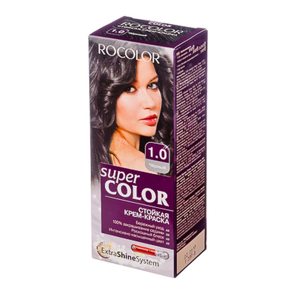 Роколор Краска для волос 1.0 черный, 50/50/15мл (р)