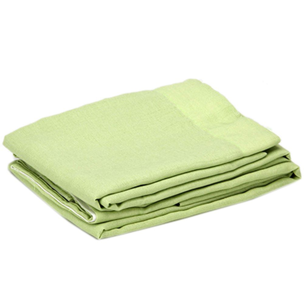 "Комплект штор 2 шт, полиэстер, ""Лен"", по 1,4х2,6м, зеленый"