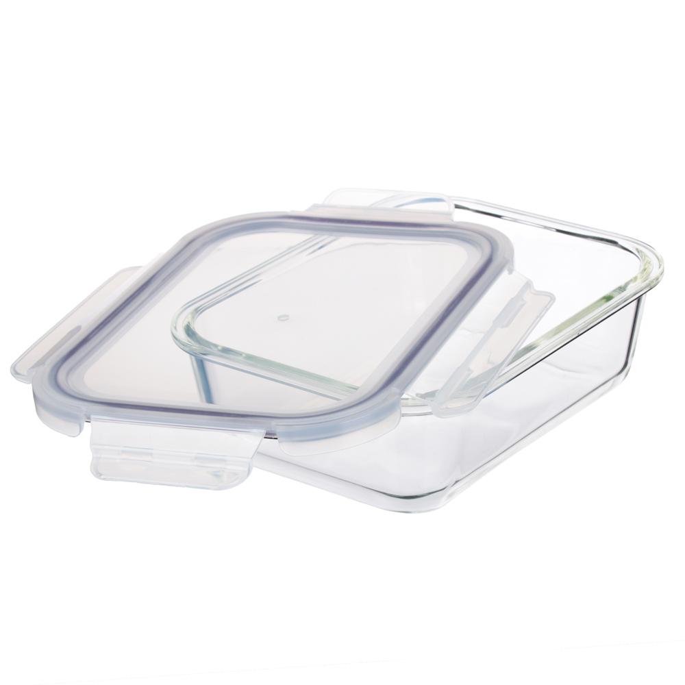 Контейнер для продуктов 1 л VETTA, на защелках, жаропрочное стекло