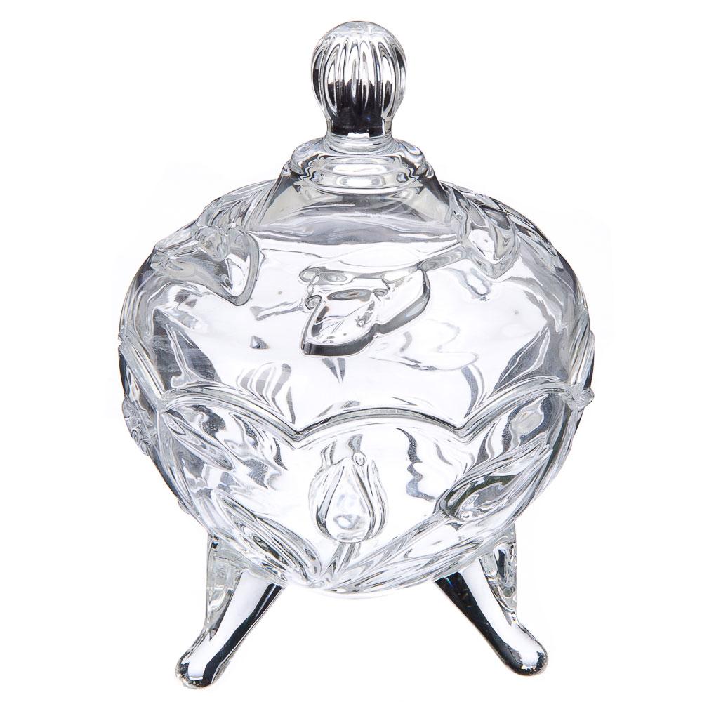 """Конфетница стеклянная, стекло, 10х14 см, """"Селия"""""""