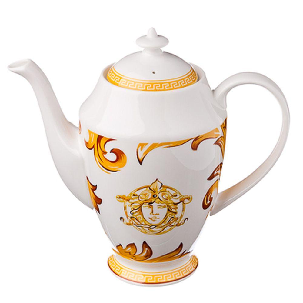 FARFALLE Империя Чайник, 1000мл, костяной фарфор, подар. упак., Дизайн GC