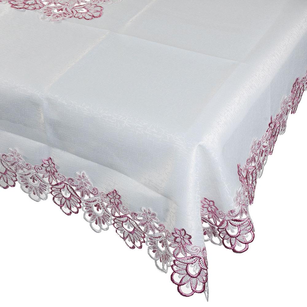 Скатерть на стол с вышивкой, полиэстер, 130х180см, VETTA