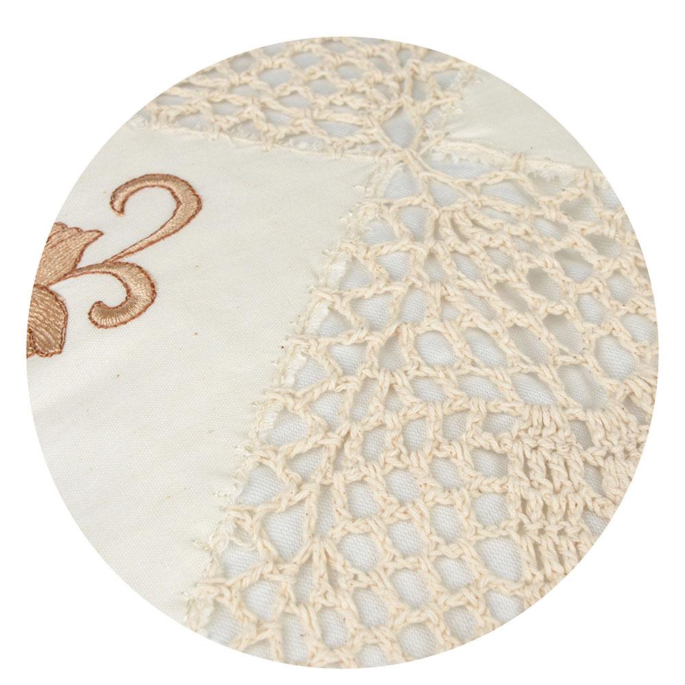 Декоративная наволочка для подушки с вышивкой, 43х43см, VETTA