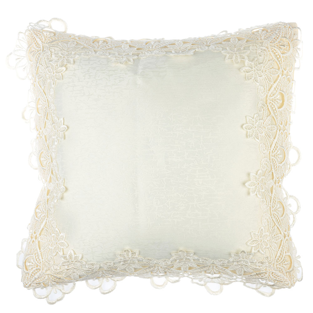 Декоративная наволочка для подушки кружевная, 40х40см, VETTA