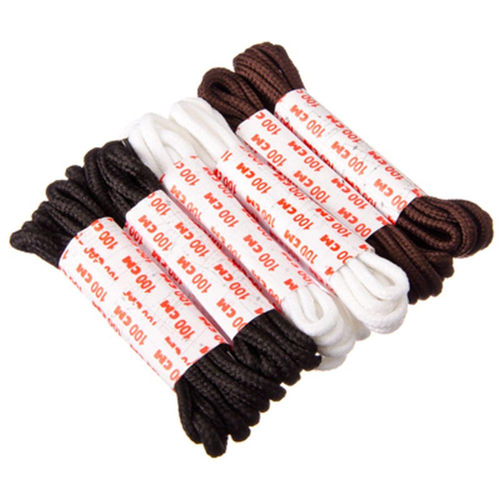 Шнурки для обуви, 6 пар, черные, белые, коричневые, 1м