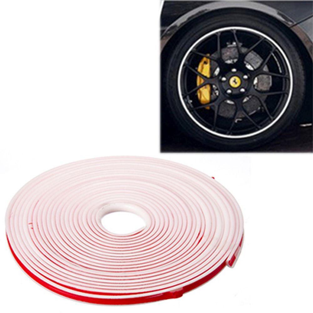 NEW GALAXY Лента защитная для автомобильных дисков, моток 7м, белая