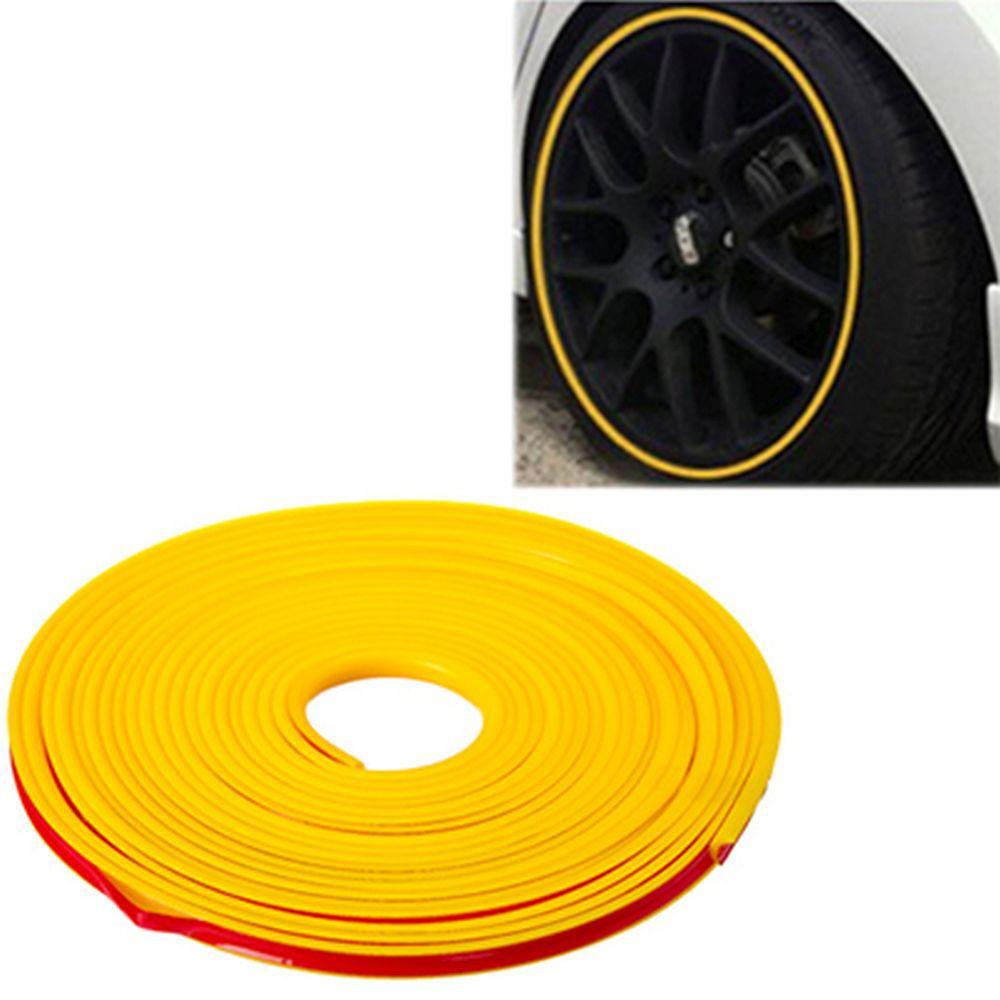 NEW GALAXY Лента защитная для автомобильных дисков, моток 7м, желтая