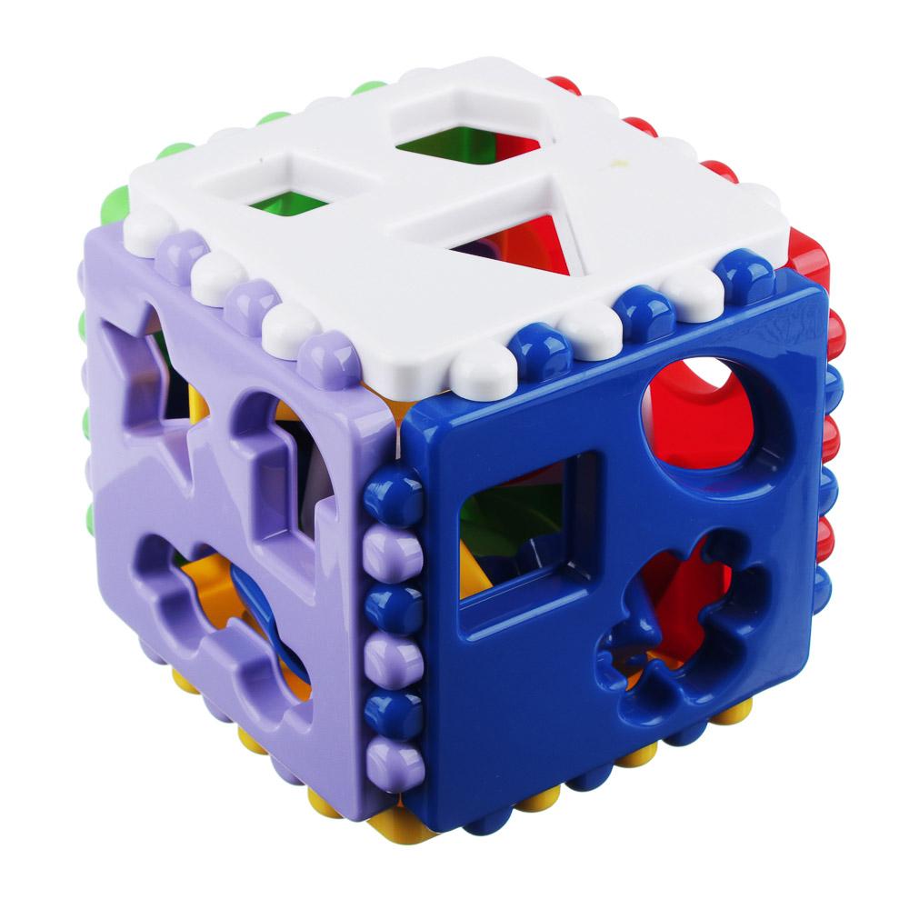 РЫЖИЙ КОТ Логический куб большой, пластик, 12х12х12см, И-3929