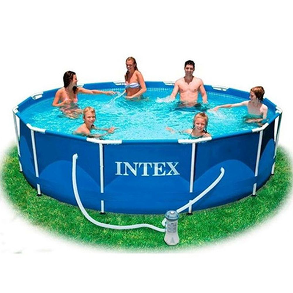 INTEX Бассейн каркасный Metal Frame 366x98см + 2 аксессуара, 28218, арт.810-492