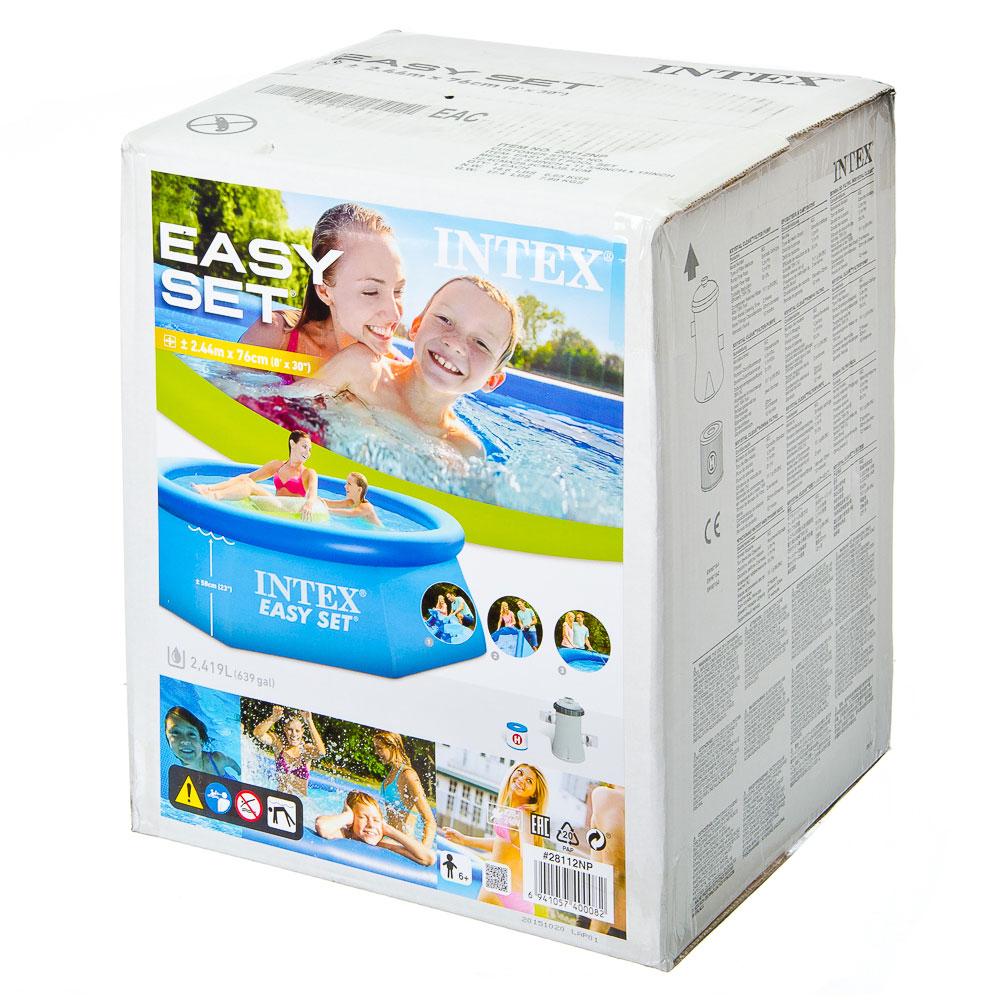 Бассейн надувной INTEX 28112 EASY SET 457х122 см с насосом и фильтром