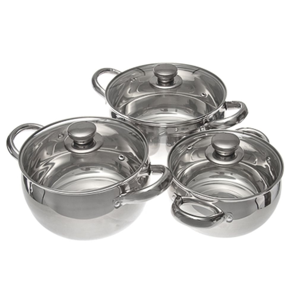 """Набор посуды 6 предметов, кастрюли с крышками, """"Дерби"""""""