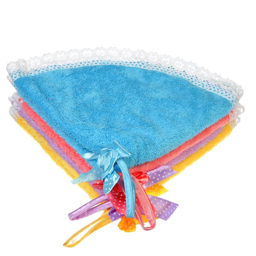 Полотенце для рук с декоративным бантом, микрофибра, d40см, 4 цвета, VETTA