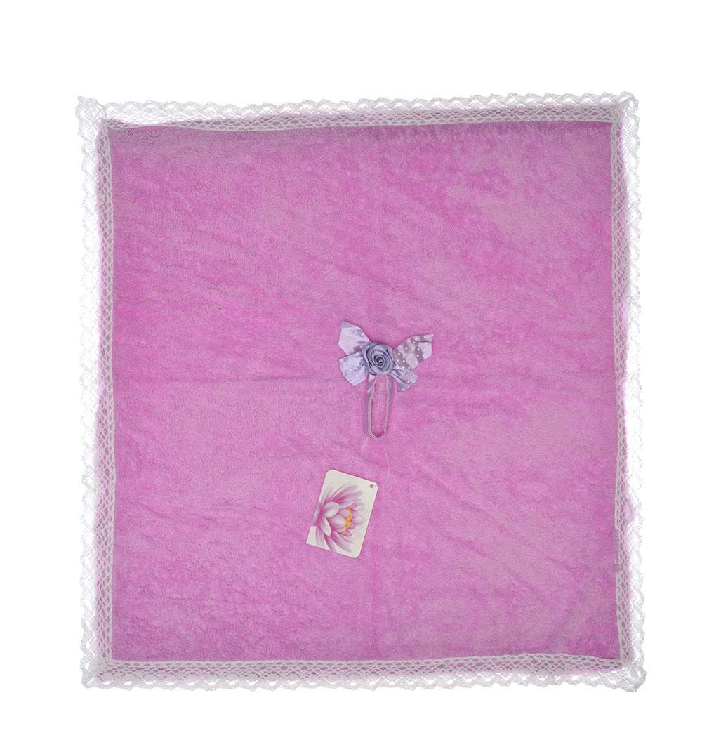 Полотенце для рук с декоративным элементом, микрофибра, 48х48см, 4 цвета, VETTA