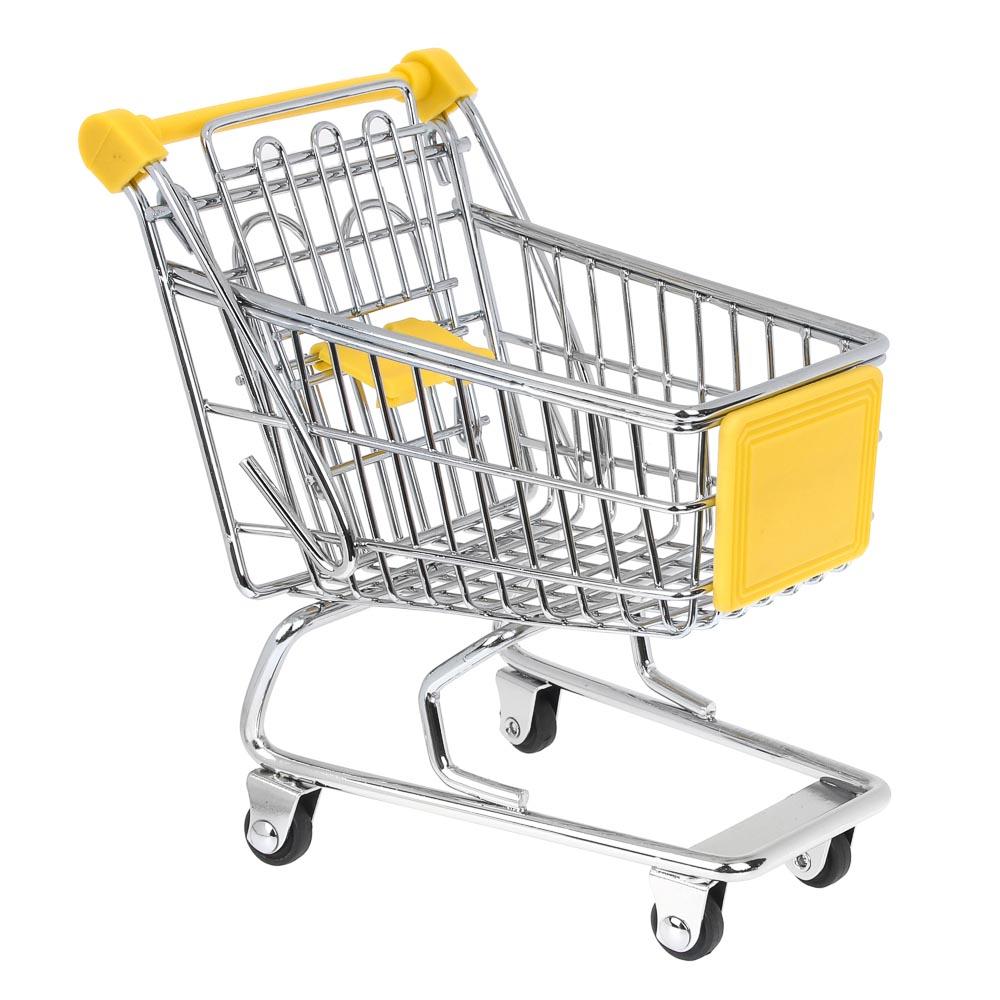 "Тележка для мелочей, металл, 12х11х8см, ""Супермаркет мини"""