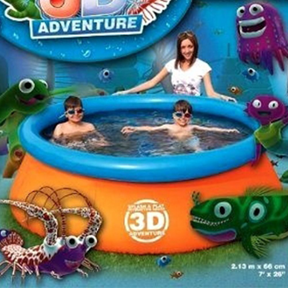 BESTWAY Бассейн надувной детский с 3D рисунком Adventure Pool 213х66см, 57244B, арт.810-438, дубль