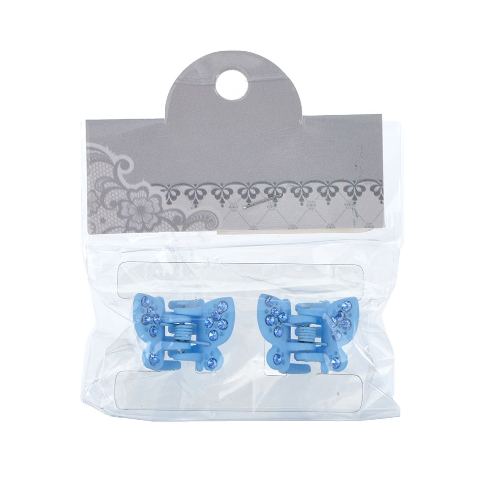 Набор заколок-крабов для волос 2шт., 2,3 см, пластик, 6 цветов