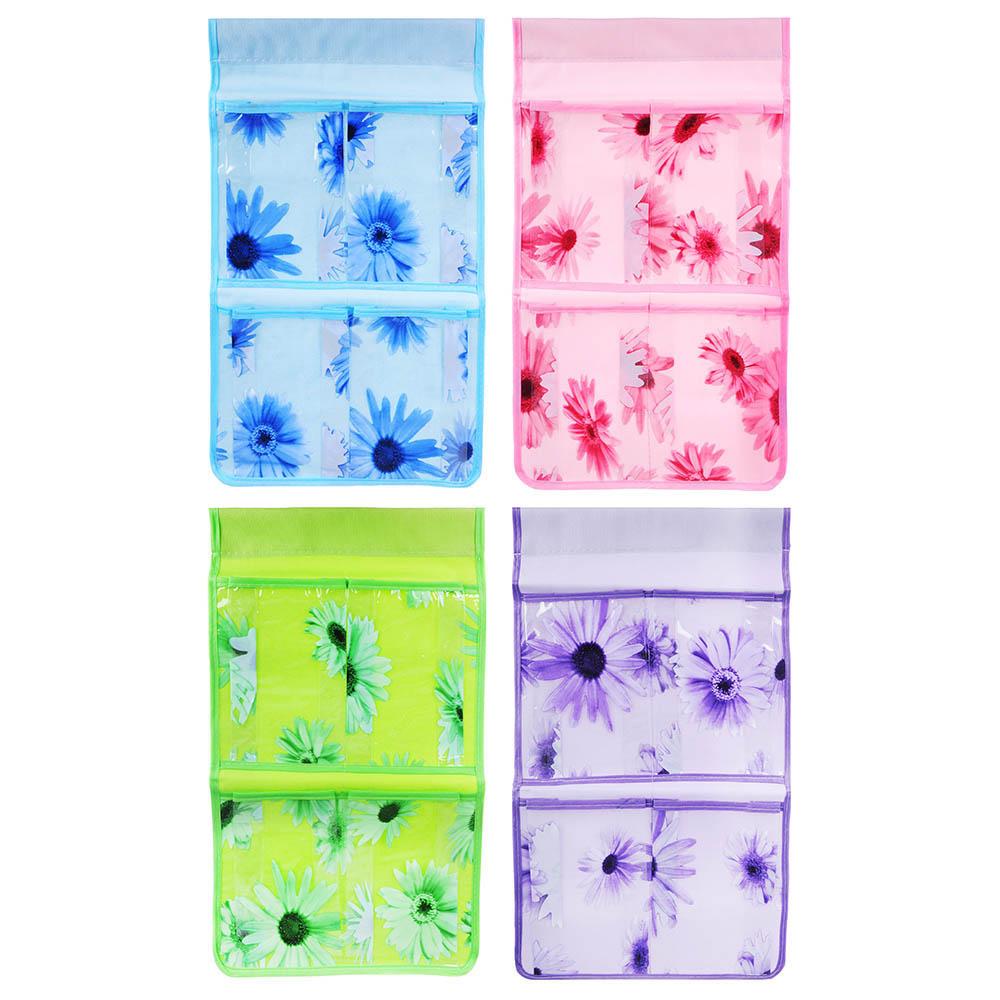 Кофр подвесной настенный, 4 кармана, ЭВА, спанбонд, 24х44см, 4 цвета