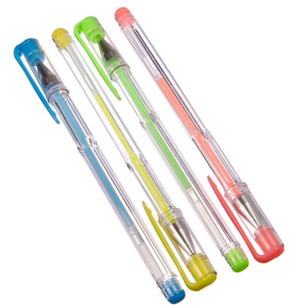 """Набор ручек гелевых 4шт, First """"Fluo"""", 4 цвета: оранжевый, желтый, голубой, зеленый), арт.51704"""