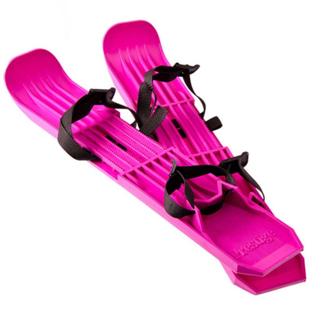 Мини-лыжи детские с ременной лентой, пластик, 10х55см