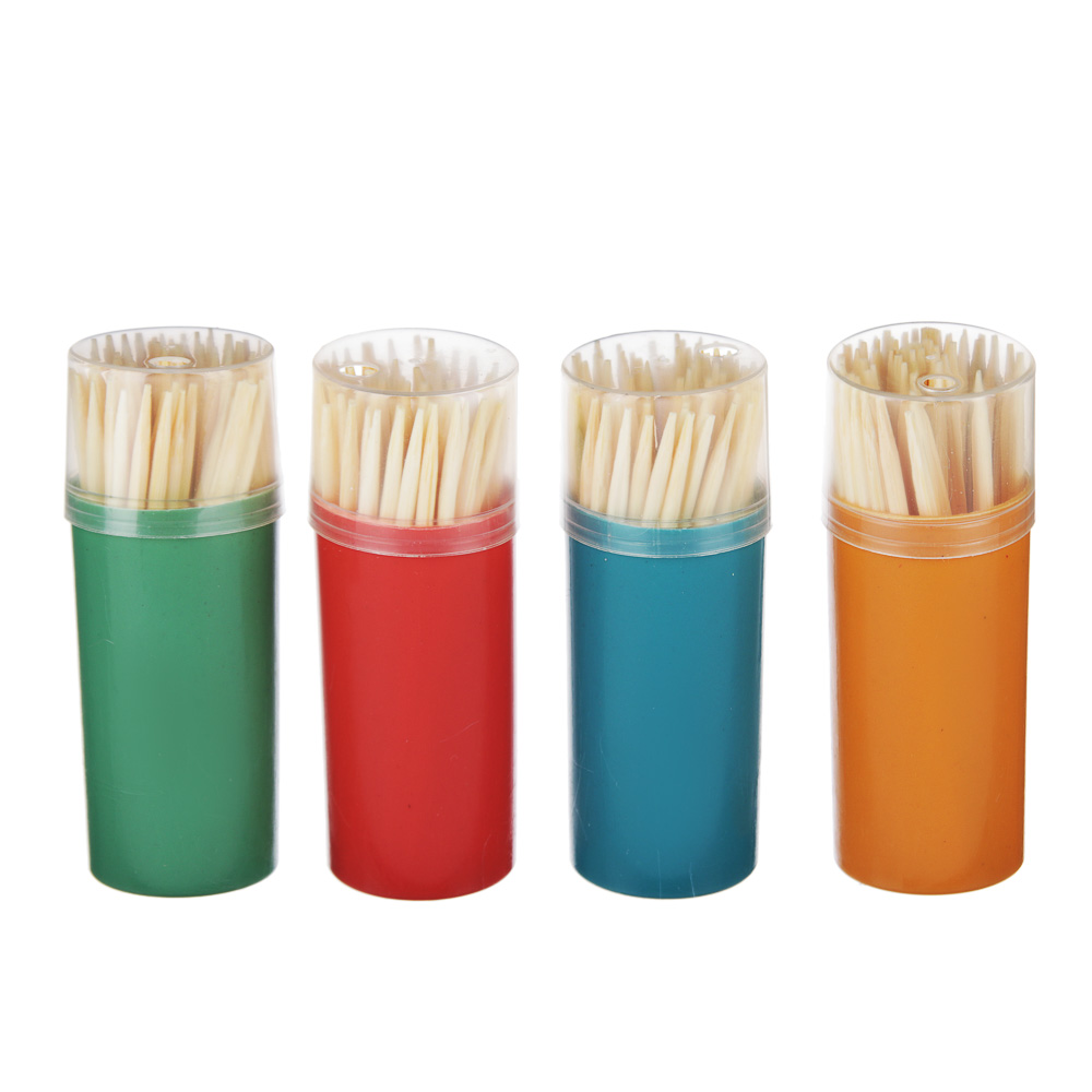 Зубочистки бамбуковые 60 шт, пластиковая упаковка, VETTA