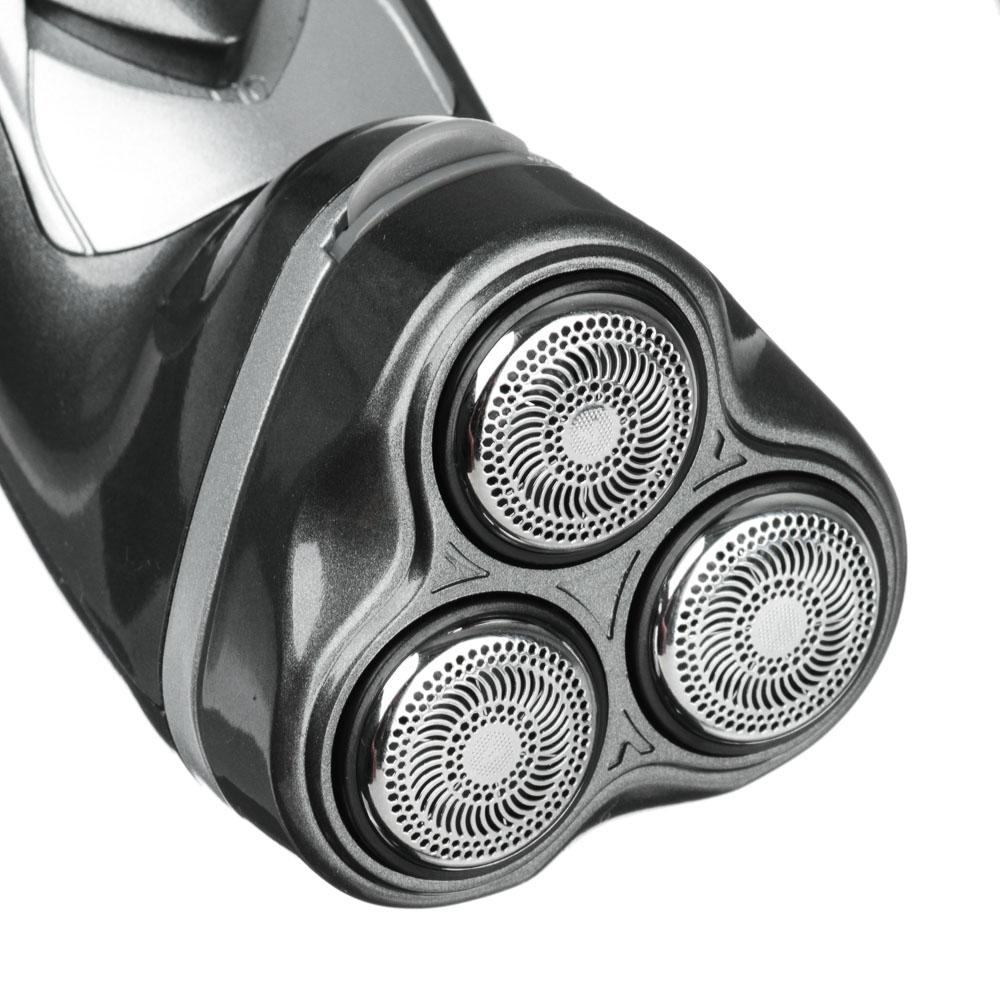 Бритва электрическая LEBEN с триммером для усов, 3 головки, роторная 3 Вт