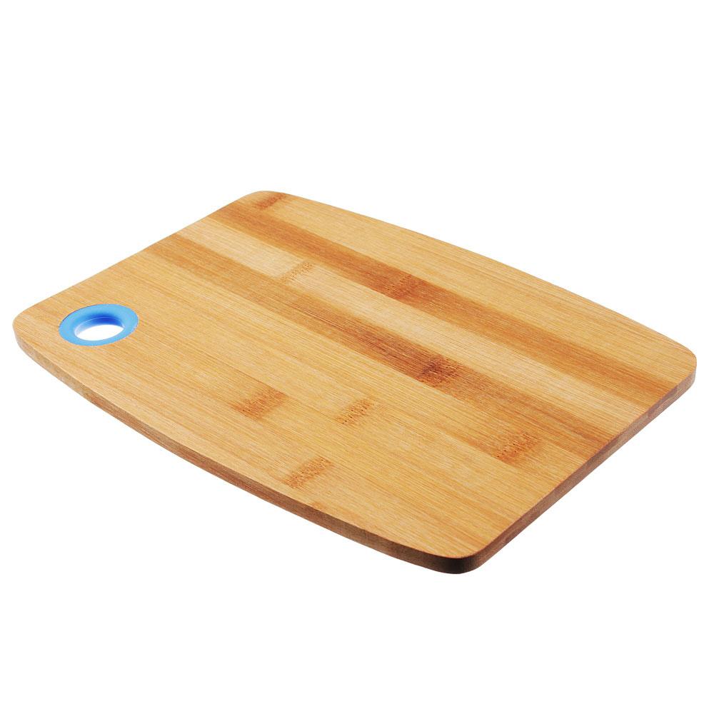 Доска разделочная VETTA, 28х20х1 см, бамбук/силикон