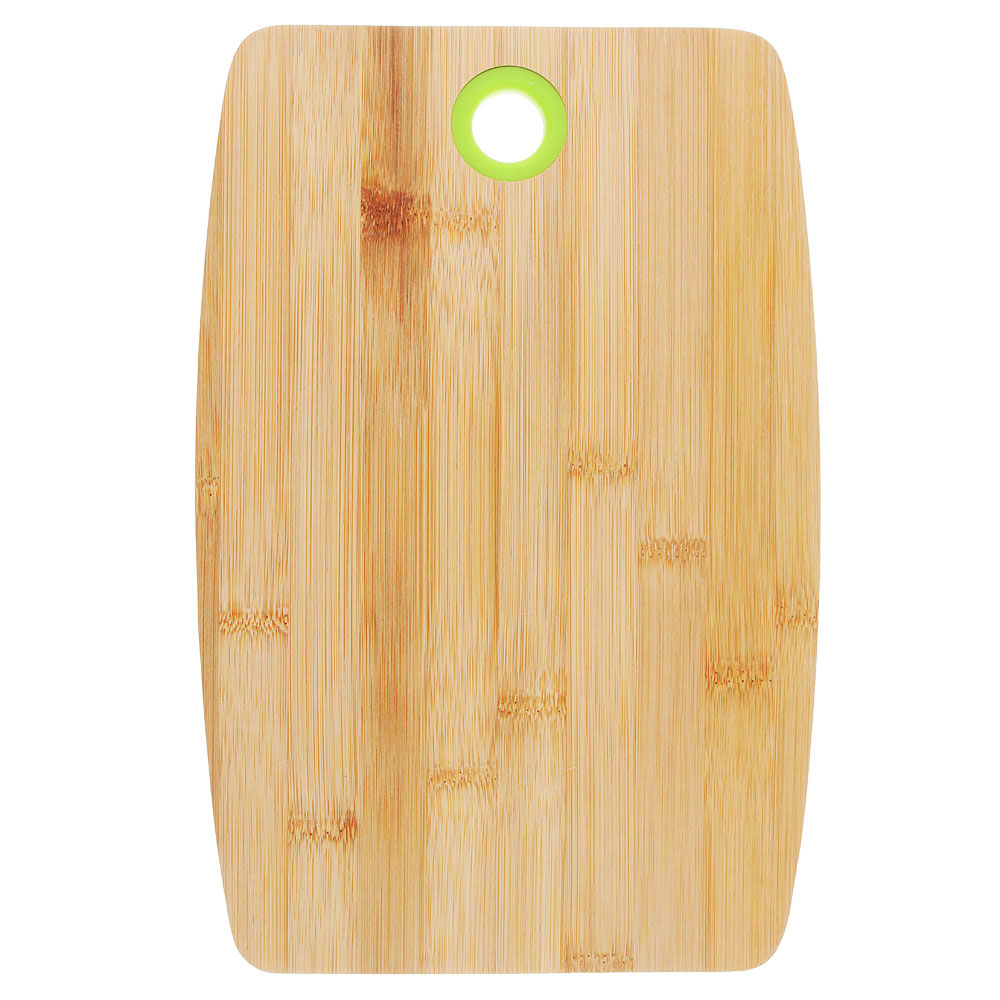 Доска разделочная деревянная VETTA, 30х20х1 см, бамбук/силикон