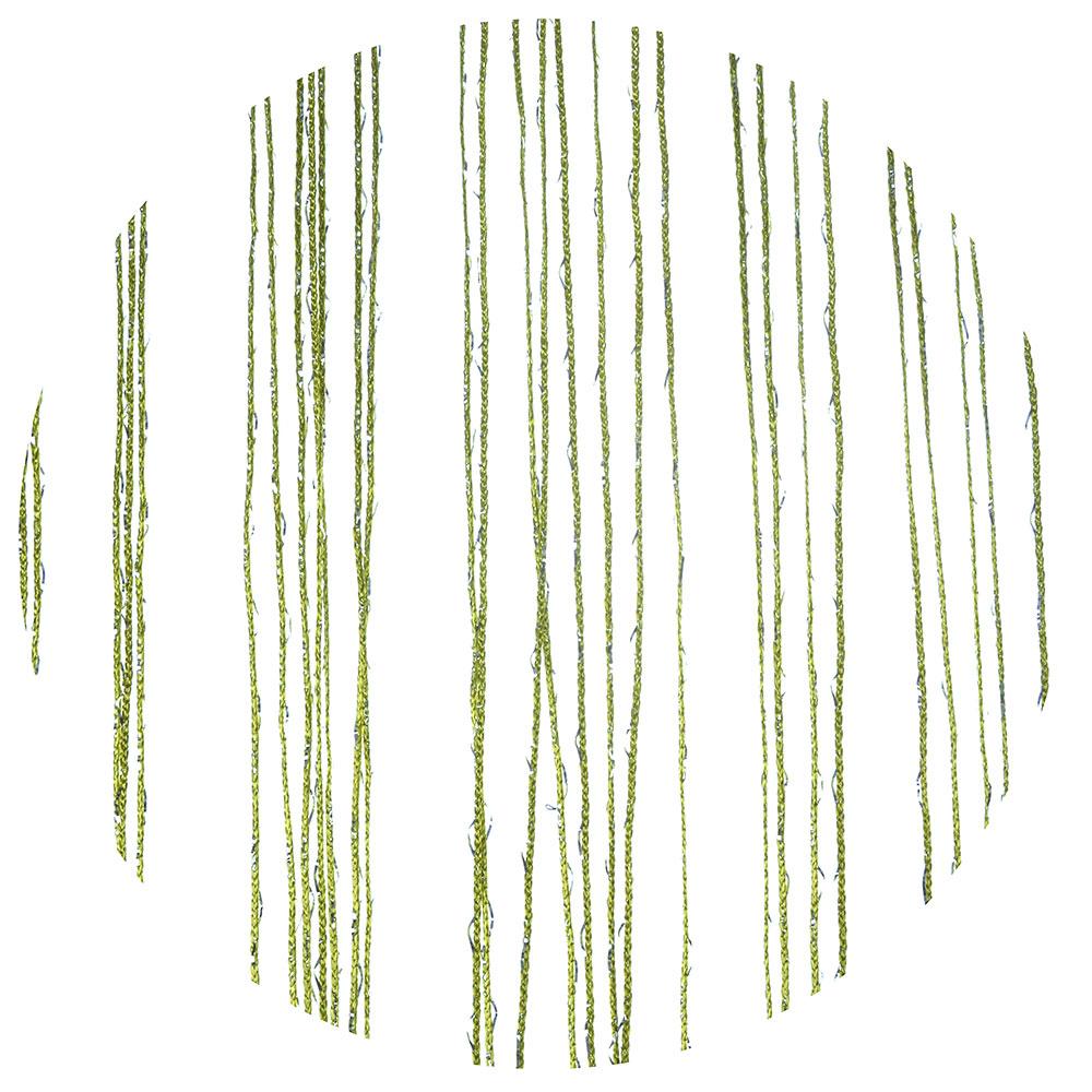 Занавеска нитяная, с блестками, полиэстер, 1x2м, зеленый, 214