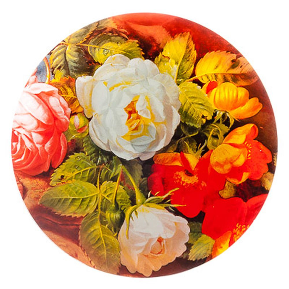 VETTA Розы Блюдо вращающееся 30,5см, стеклянное, S3012D/2