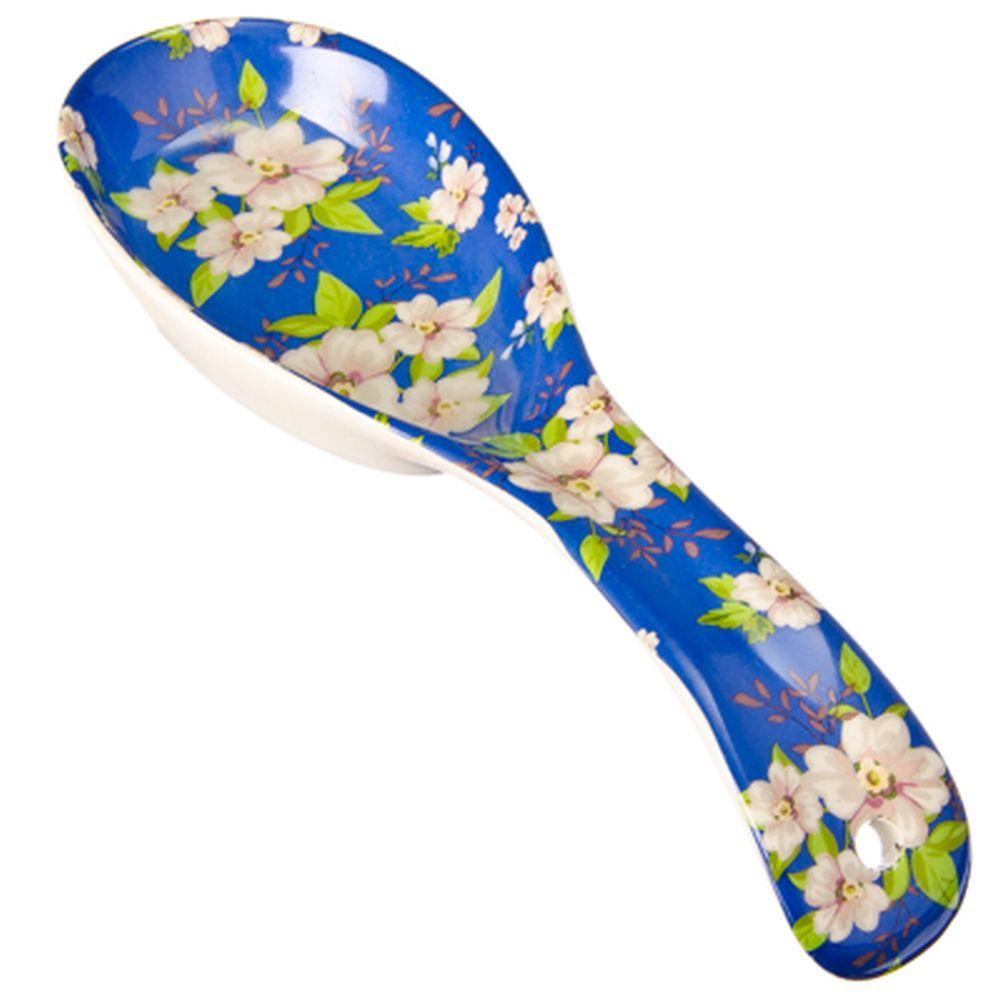 """FARFALLE Ложка подстановочная, керамика, 22см, """"Синяя весна"""""""