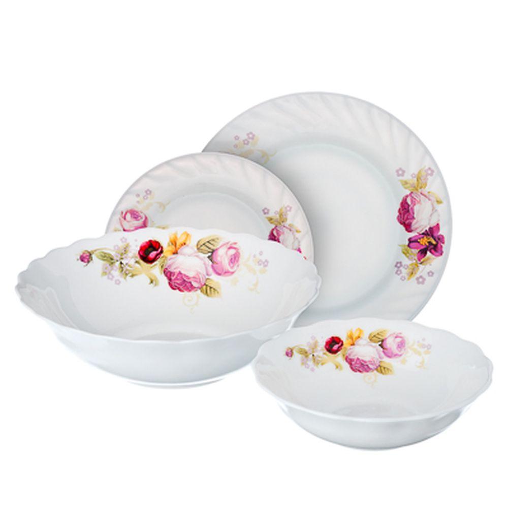 VETTA Нефела Набор столовой посуды 19 пр., опаловое стекло, W-19B6