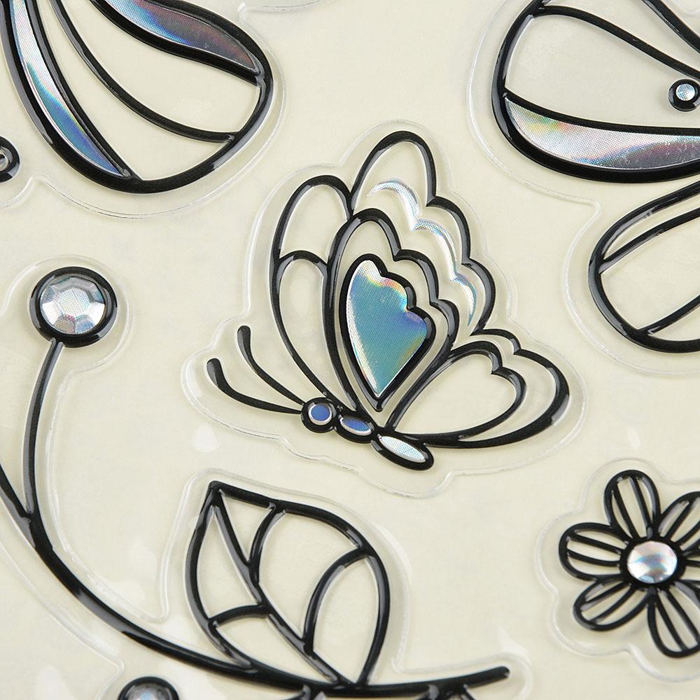 Наклейка интерьерная, 31х20см, пластик, 12 дизайнов, арт.15-002