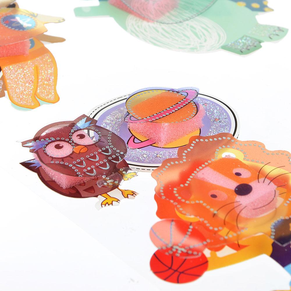 Наклейка детская 5D, пластик, бумага, 4 дизайна арт.12-03