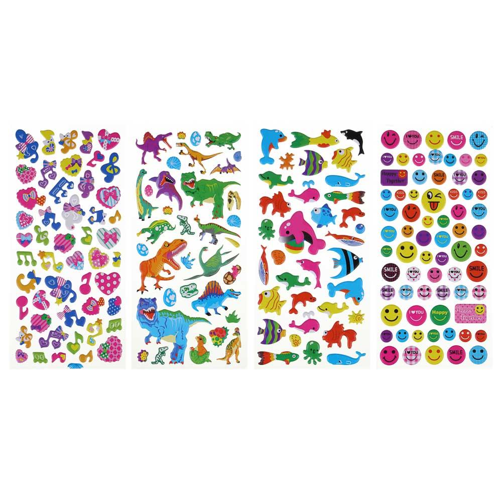 LADECOR Наклейка детская, 24х10см, пластик, 3-5 дизайнов, арт.12-08