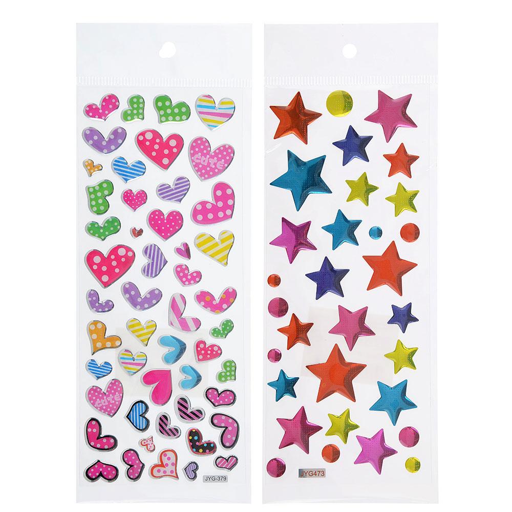 Наклейка детская, 20х7,5см, пластик, 5-7 дизайнов, арт.12-10