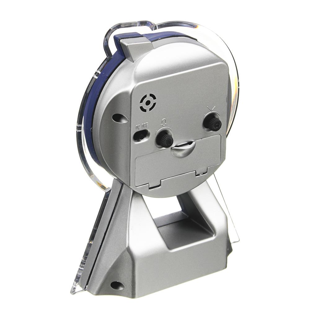 Будильник электронный, пластик, 15х11х4 см, 1хАА, 4 цвета, LA DECOR