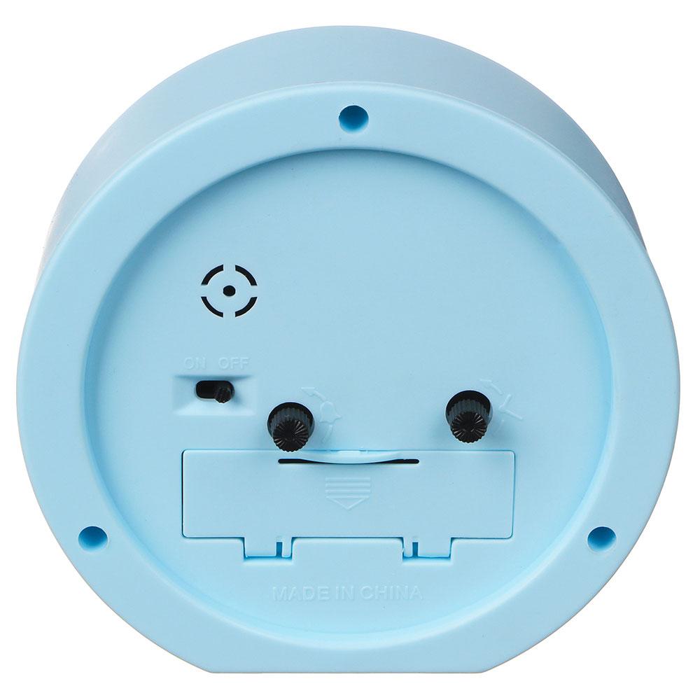 Будильник электронный, пластик, d11х4 см, 1хАА, белый