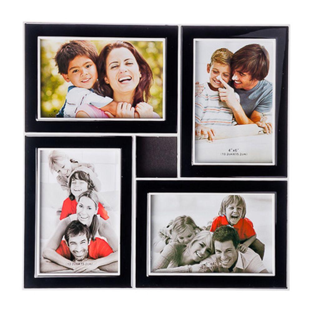 Фоторамка на 4 фотографии, пластик, 31х31см, арт.17-01