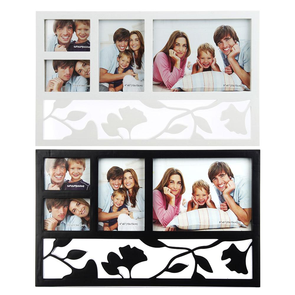 Фоторамка на 4 фотографии, пластик, 44х27см, 2 цвета, арт.17-07