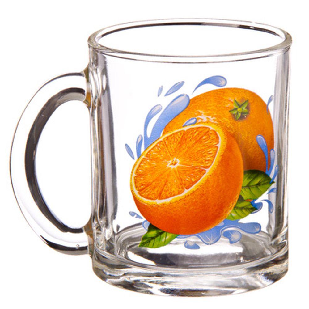 "ОСЗ Кружка стеклянная, 300мл, ""Апельсин"", 04с1208"