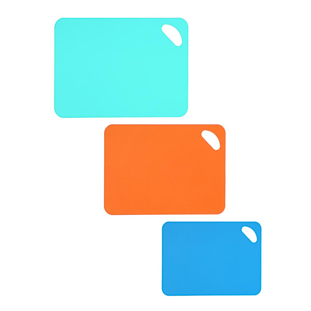 Набор разделочных досок 3шт., с антискользящим покрытием, пластик, 30х21см, 34х25см, 38х29см