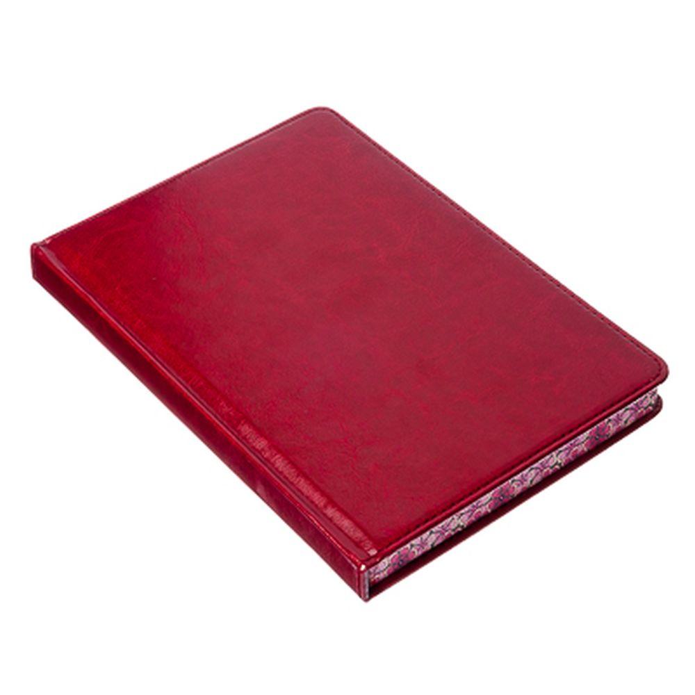 Блокнот 160 л., клетка, бумага, искусств.кожа, 21х14,5см, тверд.обл., 4 цвета