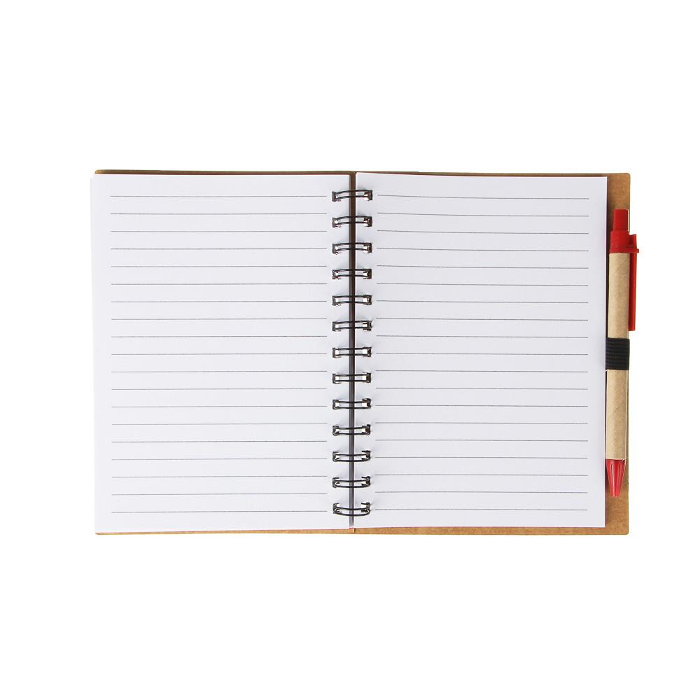 Записная книжка с ручкой, 70 л, линейка, 4 цвета